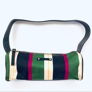 Kate Spade Small Stripes Zip Fabric Leather Purse